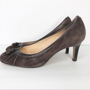 Ann Taylor Loft Women's Size 7 Brown Suede Heels